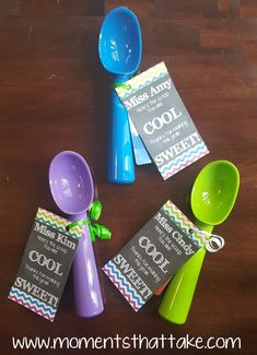 Summer Gifts For Students - Find adorable ice cream scoopers - Thoughtful Teacher Appreciation Day Ideas Tha. Volunteer Gifts, Volunteer Appreciation, Teacher Appreciation Week, Volunteer Ideas, School Gifts, Student Gifts, Teacher Gifts, Daycare Gifts, Valentine Gifts For Teachers