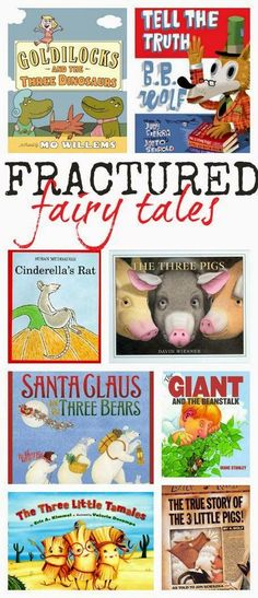 A helpful resource of fractured fairy tales. Great for comparing and contrasting reading comprehension activities.
