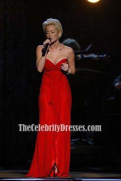Kellie Pickler Red Formal/ Evening/ Prom Dress 41st Annual CMA Award
