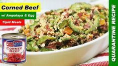 Corned Beef with Ampalaya and Egg Recipe is a healthy dish rich in iron. Plus, we have a tip on how to remove the bitter taste of ampalaya. Filipino Vegetable Recipes, Filipino Recipes, Egg Recipes, Dinner Recipes, Corned Beef Recipes, Healthy Dishes, Food Videos, Kitchens