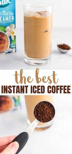Healthy Iced Coffee, Homemade Iced Coffee, Best Iced Coffee, Iced Coffee Drinks, Easy Coffee, Espresso Drinks, Coffee Ideas, How To Make Coffee, Instant Iced Coffee Recipe