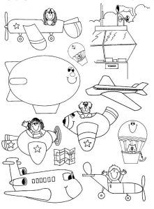 Airplanes Coloring Pages for Kids - Preschool and Kindergarten ...