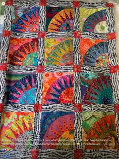 Kaffe New York beauty Batik Quilts, Scrappy Quilts, Colorful Quilts, Small Quilts, Quilting Projects, Quilting Designs, Quilting Ideas, Sewing Projects, New York Beauty