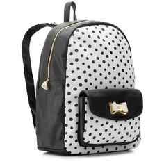 Betsey Johnson Polka Dot Backpack   DSW ($60) ❤ liked on Polyvore featuring bags, backpacks, mochila, betsey johnson backpack, backpacks bags, betsey johnson, polka dot bag and knapsack bags