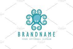 Octopus Ornament by Zack Fair Design on @creativemarket #logo #Template #animals #design #logotype #octopus #marine