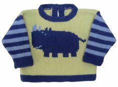 Rhino Crew Neck pattern by Gail Pfeifle, Roo Designs