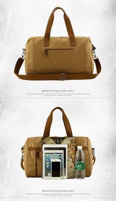 96156f4238f9 Men Canvas Vintage Travel Holdall Bag Large Capacity Shoulder Bag Weekend  Bag - US 46.10 men women bags fashion
