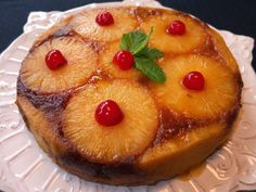 La cocina de Lola: Tarta de piña natural Venezuelan Food, Gourmet Desserts, Flan, Mini Cakes, Let Them Eat Cake, Cake Recipes, Cheesecake, Brunch, Food And Drink