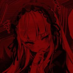 Red Aesthetic, Aesthetic Anime, Animes Wallpapers, Cute Wallpapers, Chicas Punk Rock, Anime Monochrome, Arte Obscura, Gothic Anime, Cute Profile Pictures
