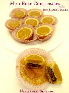mini rolo cheesecakes