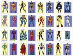 DC Comics' Legion of Super heroes and their Marvel Comics' Shi'ar Imperial Guard counterparts.