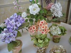 Porcelain flowers by Pamela Tidwell