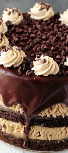 Cookie Dough Brownie Cake Recipe Brownie cake Cookie dough