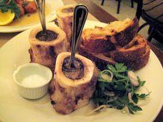 Roasted Bone Marrow With Caramelized White Turnip Recipes Beef Marrow Bones, Beef Bones, Cooking Bone Marrow, Bone Marrow Soup, Bone Broth, Turnip Recipes, Meat Recipes, Cooking Recipes, Gourmet