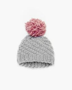 DIY Knit Kit: Luca Pom Hat Kit with pom pom and swirl stitch, super chunky hat perfect for beginner knitters, learn to knit with illustrations, pattern, yarns and needles. All you need. – Stitch & Story