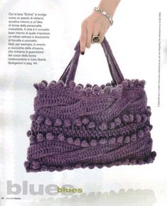 Cables and bobbles handbag...patterns are available in pdf format for download.
