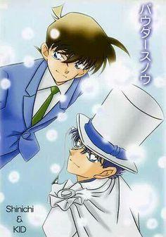 Shinichi and Kaito Kid