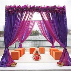 Wedding idea design, wedding mandap, wedding reception tent, wedding drapery pipe and drape booth for wedding venue. http://www.raykevent.com/