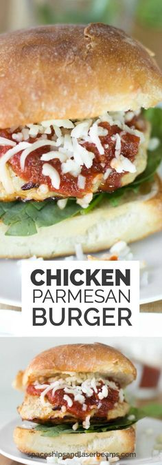 Chicken Parmesan Burgers via @spaceshipslb
