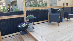 Cedar Deck, Outdoor Furniture Sets, Outdoor Decor, Patio, Home Decor, Homemade Home Decor, Yard, Porch, Terrace