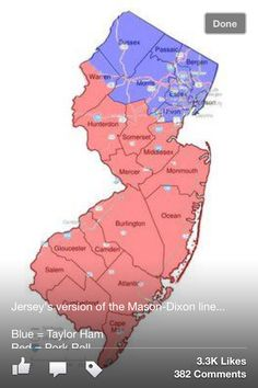 New Jersey's division: pork roll rules! Jersey Girl, New Jersey, Mason Dixon Line, Pork Roll, Gloucester, Just For Fun, Division, Rolls, Ocean