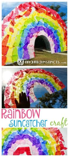 Try this rainbow sun catcher craft perfect for St. Patrick's day or any other occasion. Replicate this technique to creative any type of sun catcher your kid wants.