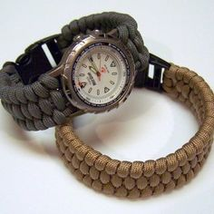 Paracord Watchband. Great and inexpensive way to replace a broken band. Lots of other paracord projects too!