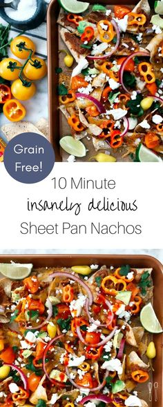 Fancy, Not Fussy, Vegetarian Grain-Free Sheet Pan Nachos Spicy Recipes, Seafood Recipes, Soup Recipes, Vegan Recipes, Yummy Recipes, Healthy Weeknight Meals, Healthy Family Meals, Beans And Sausage, Recipes