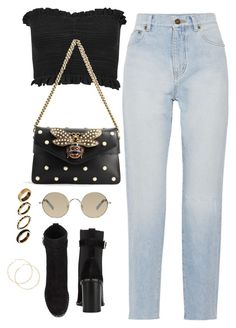 """""""Untitled #4262"""" by magsmccray on Polyvore featuring Miss Selfridge, Yves Saint Laurent, Gucci, Tura, rag & bone and ASOS"""