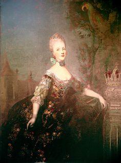 Portrait anonyme de Marie Antoinette, 1768. Prague, château de Hradčany.