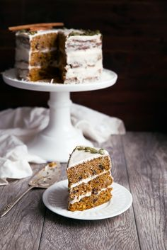 Pumpkin Carrot Cake with Cinnamon Cream Cheese Frosting - Broma Bakery