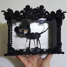 Completed...  Sculpture Art, Sculptures, Goth, Wreaths, Decorating, Pearls, Halloween, Drawings, Artwork