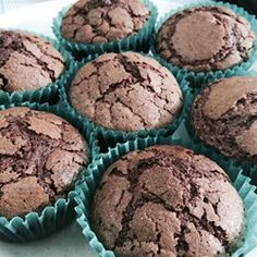 "Brownie Cupcakes | ""These are great brownies. Not a lot of ingredients and they are moist and chewy, they melt in your mouth! My 14-year-old daughter made them by herself for a bake sale."""