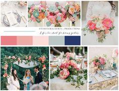 Wedding Inspiration | STEMS Floral Design | Mood Board | Vision Board | Austin Florist | Summer Wedding | Coral | Pink | Peach | Green | Blue | Garden Wedding | Succulents
