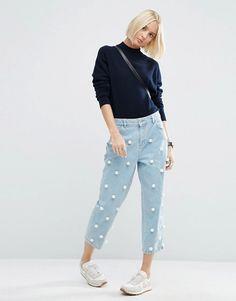 ASOS White | ASOS WHITE Pearl Embellished Jeans