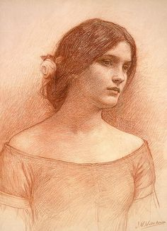 study for the Lady Clare by John William Waterhouse