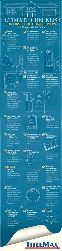 20 Steps to Buying your First Home #Infographic #RealEstate