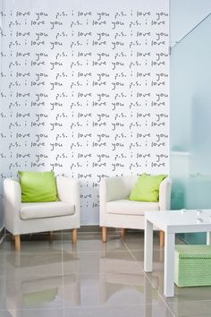 Wall Decal Words P.S. I Love You Valentines by WallStarGraphics, $150.00