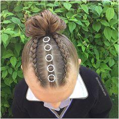 Inspired by @hairbyamandaackerman Girly Hairstyles, Kids Braided Hairstyles, Princess Hairstyles, Creative Hairstyles, Little Girl Hairstyles, Scarf Hairstyles, Down Hairstyles, Pretty Hairstyles, Child Hairstyles