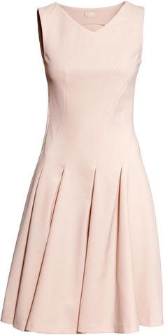 H&M - Sleeveless Dress - Pink - Ladies