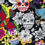 Alexander Henry Folklorico Calaveras Alegres Black [AH-DE7810-C] - $10.95 : Pink Chalk Fabrics is your online source for modern quilting cottons and sewing patterns., Cloth, Pattern + Tool for Modern Sewists