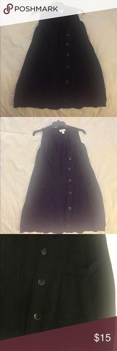 Loft black sleeveless Vest, Medium, worn 1x Loft black sleeveless Vest, Medium, worn 1x LOFT Sweaters
