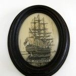 The foudroyant Scrimshaw Oval Resin Framed Miniature