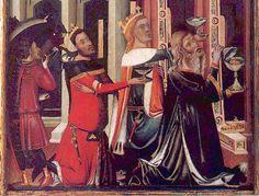 """""""Los Reyes de Oriente, detalle de la Tabla de la Anunciacion y la Epifania,entre 1347 y 1360"""" men's parti plaid"""