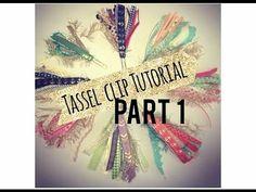 Ribbon Tassel Clips! *Tutorial*  PART 1