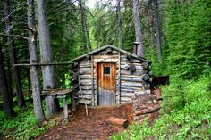 44. Uninhabited old mining cabin high up in the Tobacco Root Mountains, Montana.