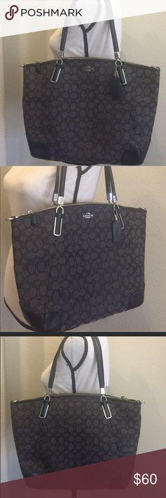 "Authentic Black Coach shoulder handbag . Black coach shoulder strap Handbag,                                Great , like new ,                                                                     26 "" L  and  12""H Coach Bags Shoulder Bags"