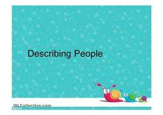 Describing People with Cartoon Characters