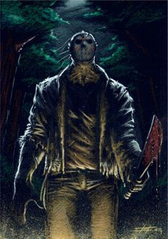 Twisted Art For Twisted Minds Jason Voorhees by LucaStrati Horror Posters, Horror Icons, Horror Films, Jason Viernes 13, Jason Voorhees Figure, Friday The 13th Poster, Jason Friday, Horror Villains, Slasher Movies