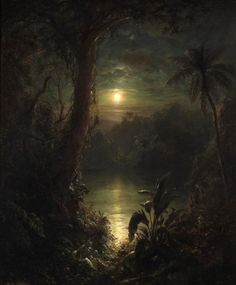 Twilight In The Tropics (A Tropical Moonlight)      Artist: Frederic Edwin Church  Date: 1874
